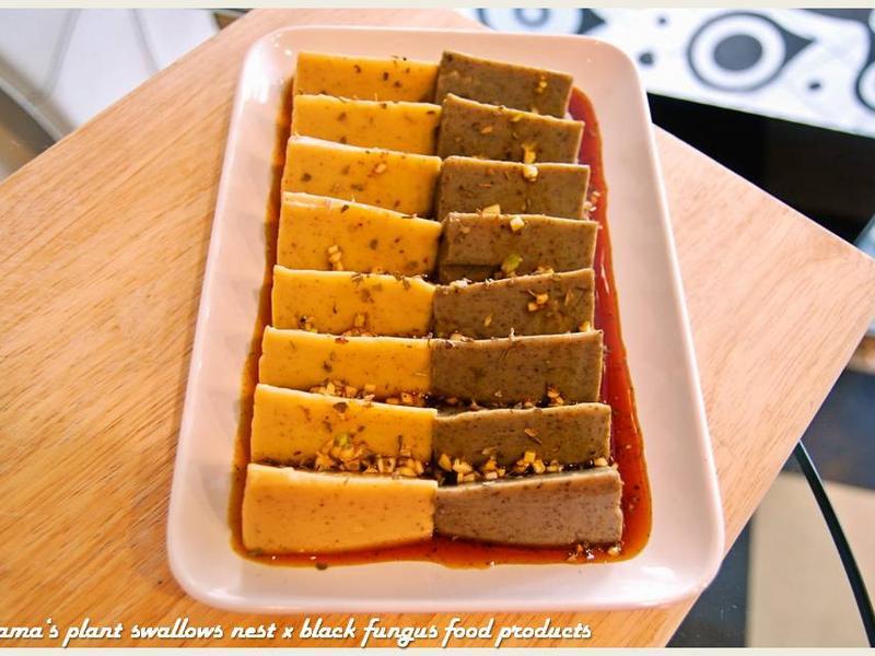 蒜味醬油佐黑木耳豆腐.柯媽媽の植物燕窩