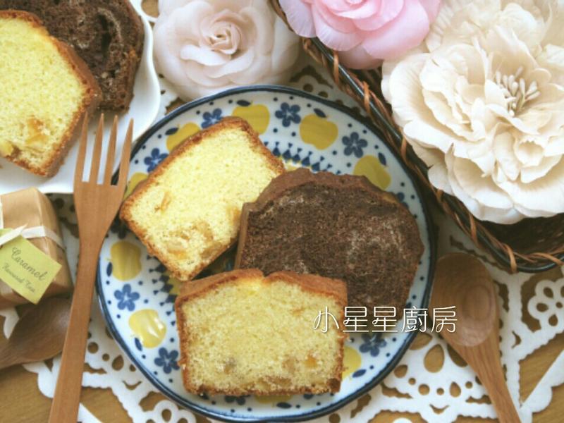 一次烤二種口味磅蛋糕(桔丁&巧克力)