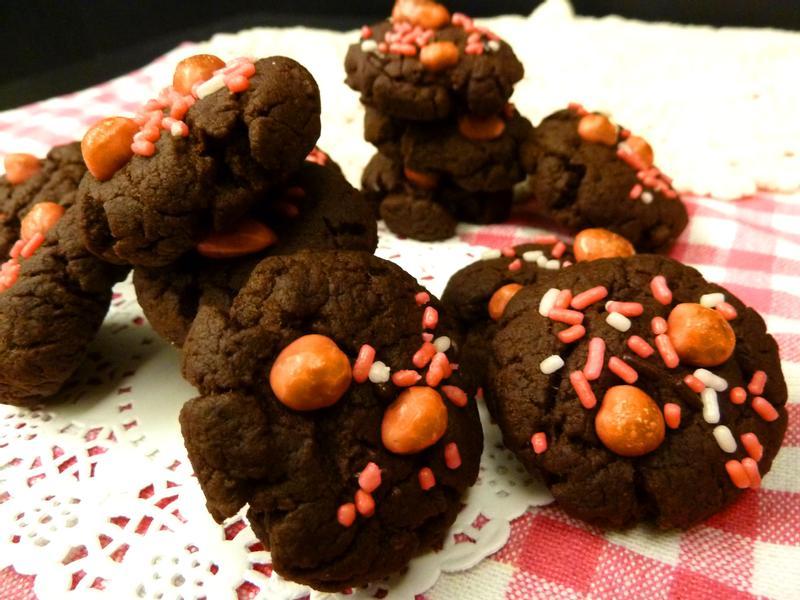 《情人節》巧克力美式迷你軟餅乾~簡單