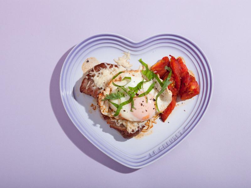 陽光蕃茄起司煎豬排
