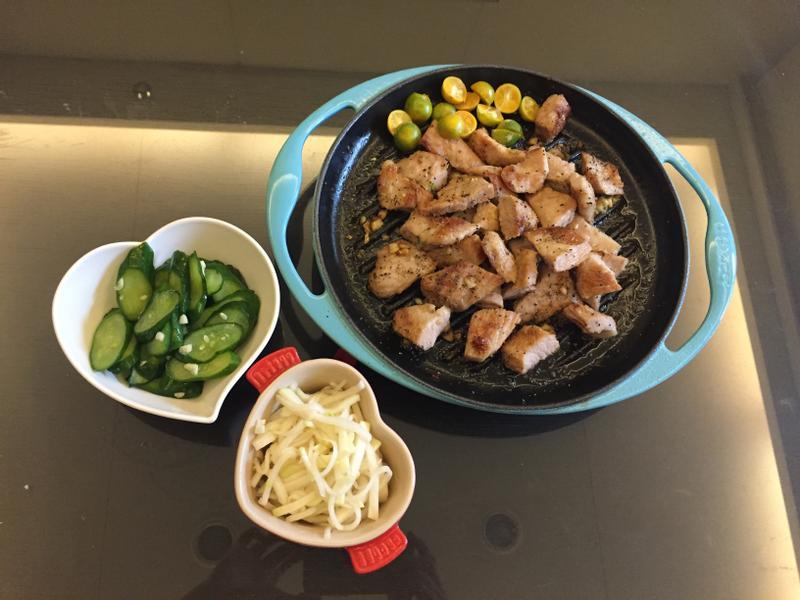 香煎松板豬肉