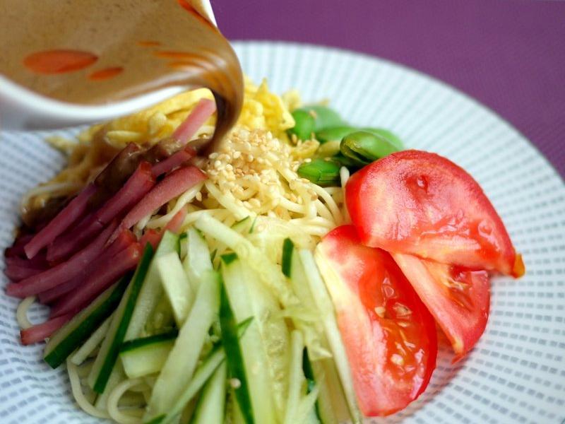 ♫【深夜食堂】中華涼麵「冷やし中華」佐芝麻醬