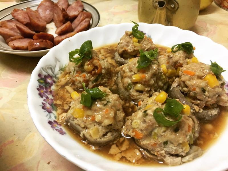 香菇鑲肉🍄電鍋簡易版