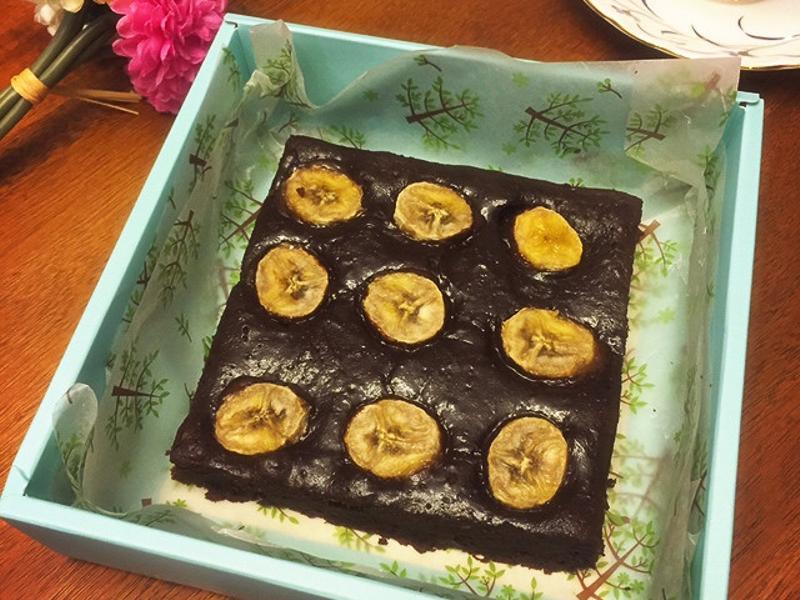 滿滿香蕉巧克力布朗尼