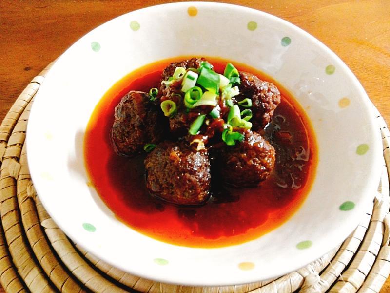 辣味豆瓣牛肉丸一超簡單,家庭料理