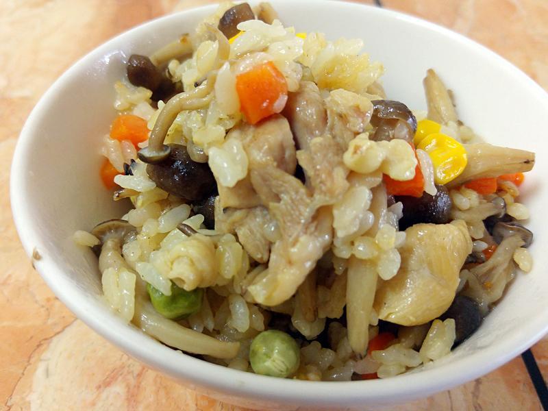 雞肉野菇炊飯
