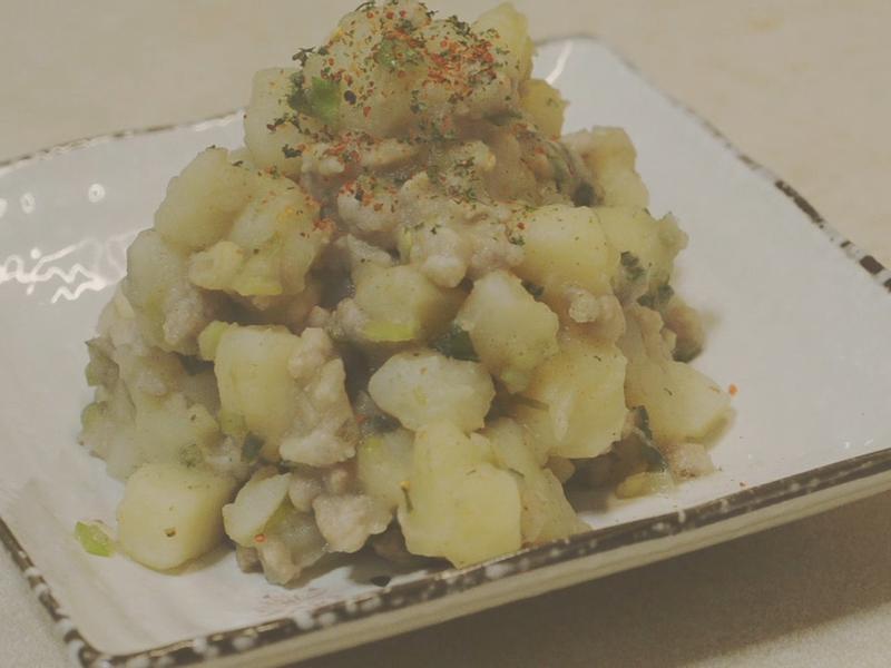 軟綿鹹香∣肉末炒馬鈴薯