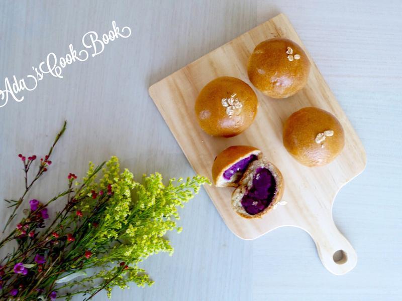 紫薯夾心全麥麵包 (少油少糖版)