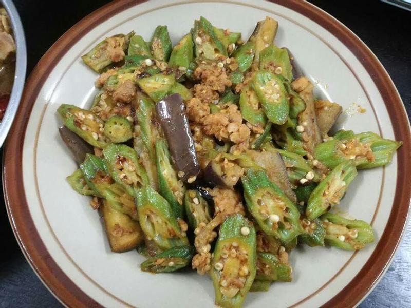 tomyam炒羊角豆茄子