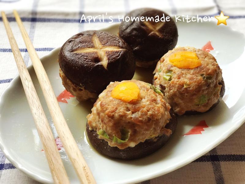 多汁的鹹蛋香菇鑲肉