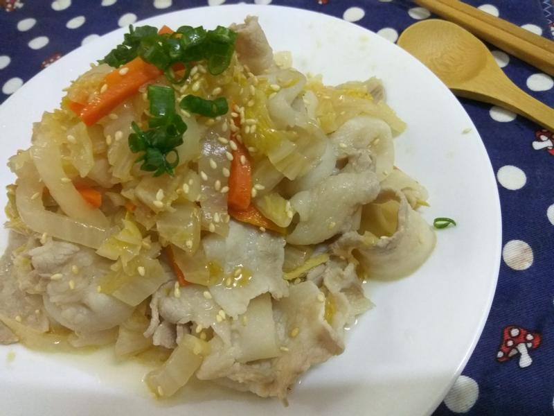 十分鐘上菜─酸白菜炒肉片