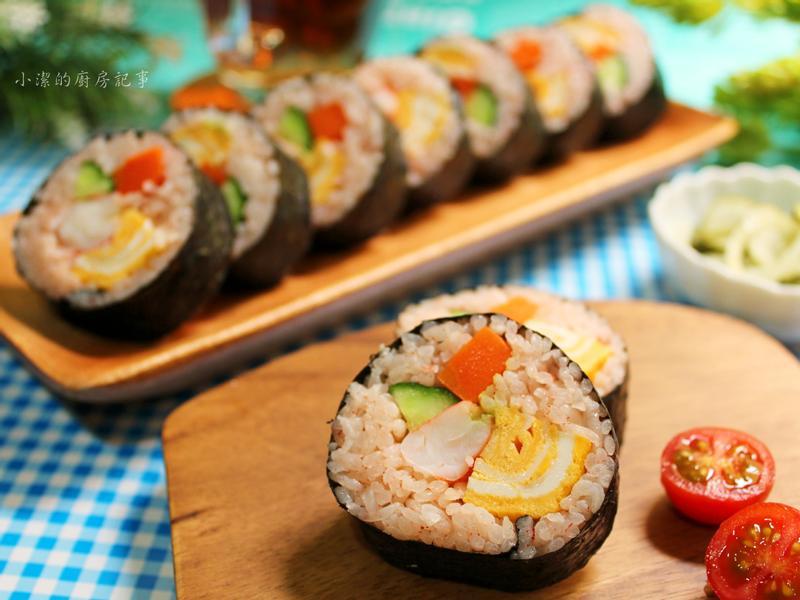 【紅麴料理】海苔紅麴飯捲