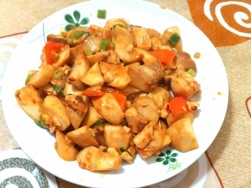 杏鮑菇炒鹹蛋