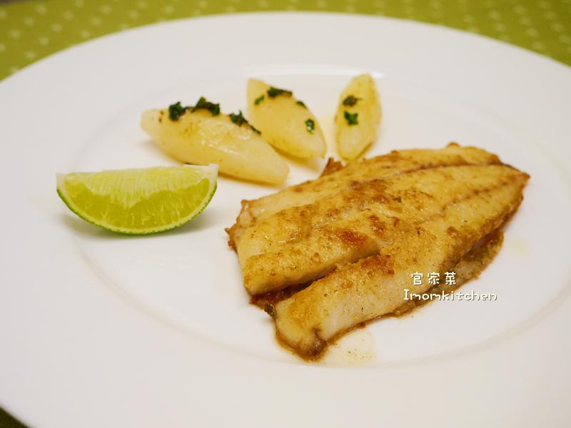 西餐丙級-煎鱸魚排附奶油馬鈴薯
