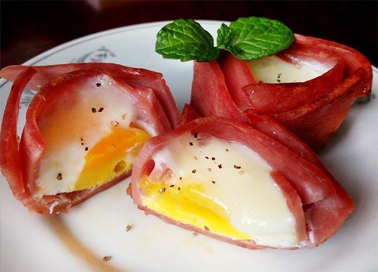 火腿夾心蛋~新食感的冷凍蛋料理