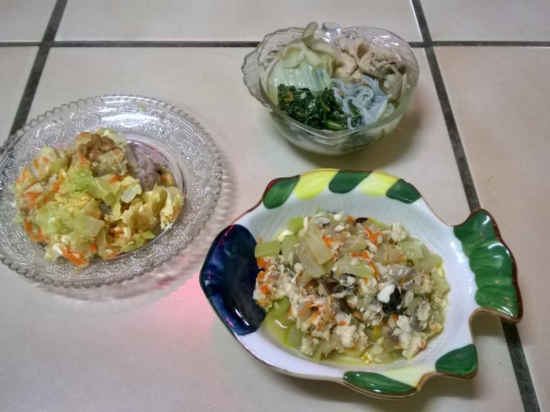 鮮食🐾 納豆蓋飯 火鍋 蒲瓜炒魚