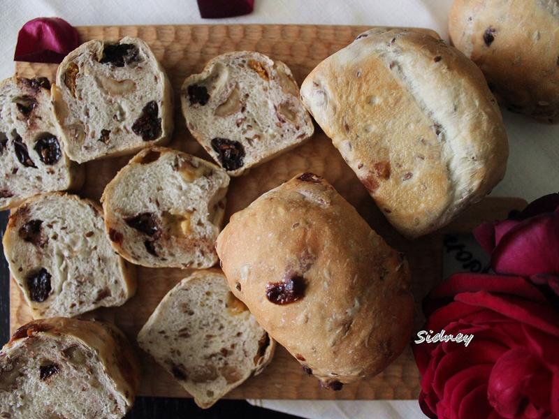 低油糖果乾堅果麵包