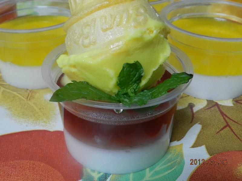 ㄚ曼達的廚房~雙色果凍