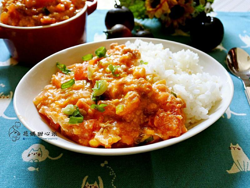 番茄蛋肉末燴飯