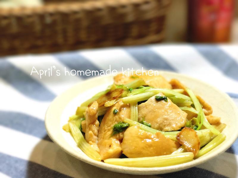 蠔油芹菜嫩炒雞肉