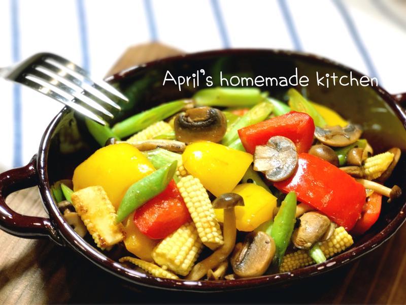 野菇溫蔬菜沙拉 和風醬汁自己做