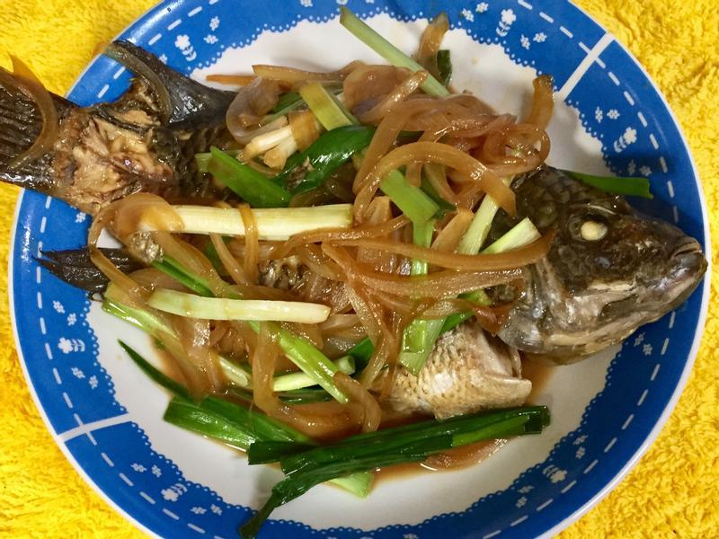 簡易醬糖蔥燒魚
