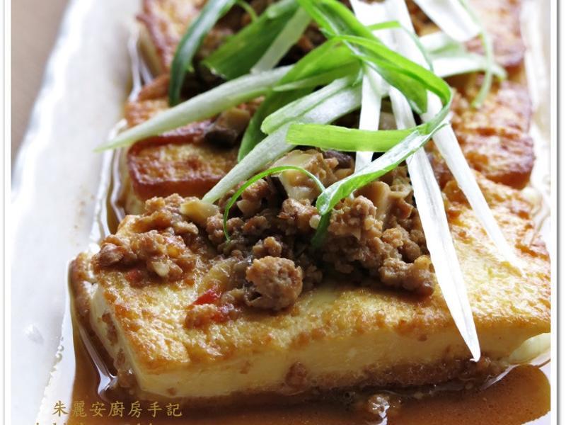 [肉末香菇燒豆腐]簡易家常菜
