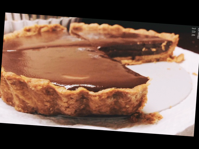 《超好吃、超簡單》6寸生巧克力塔