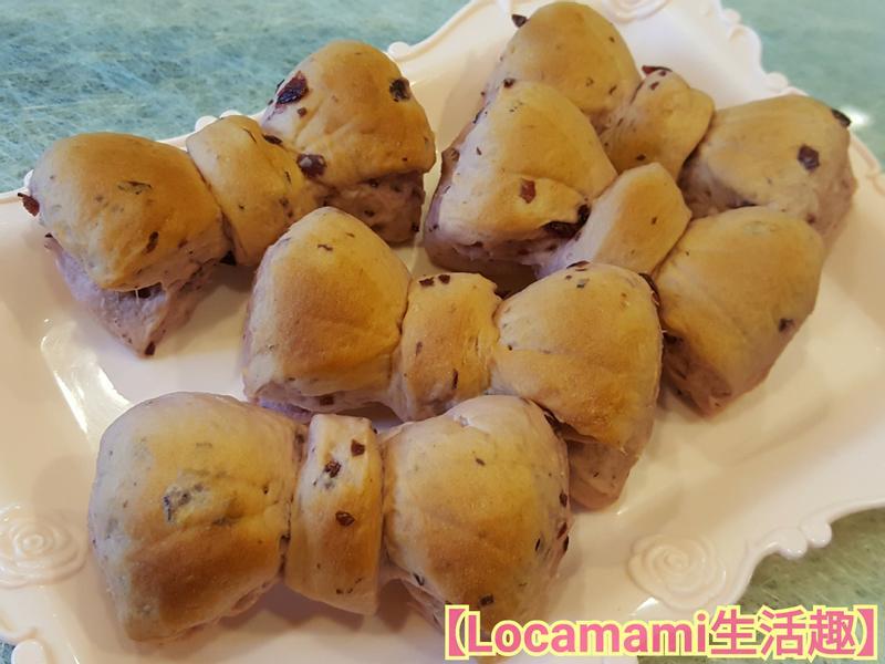 紫薯蔓越莓麵包