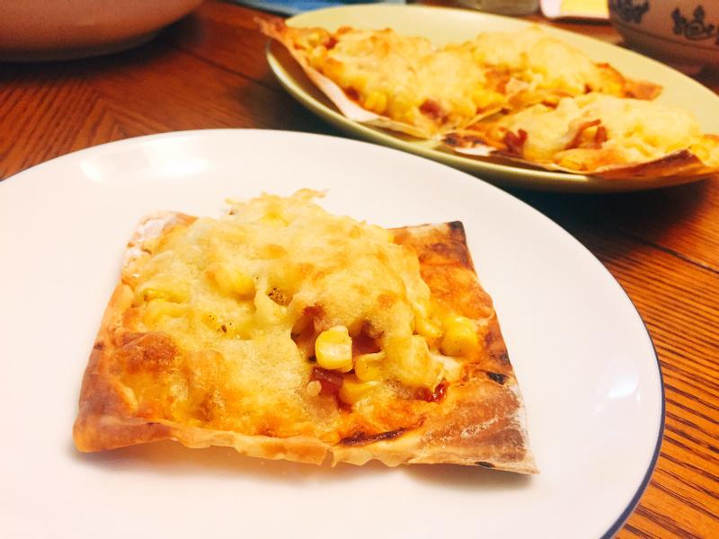 《清冰箱》火腿玉米薄片披薩