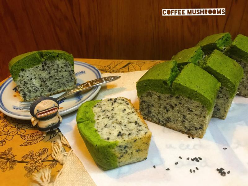 抹茶芝麻磅蛋糕