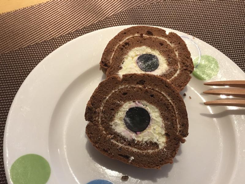 巧克力檸檬香緹葡萄卷🍥