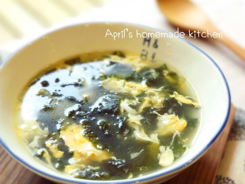 韓式海帶芽蛋花湯
