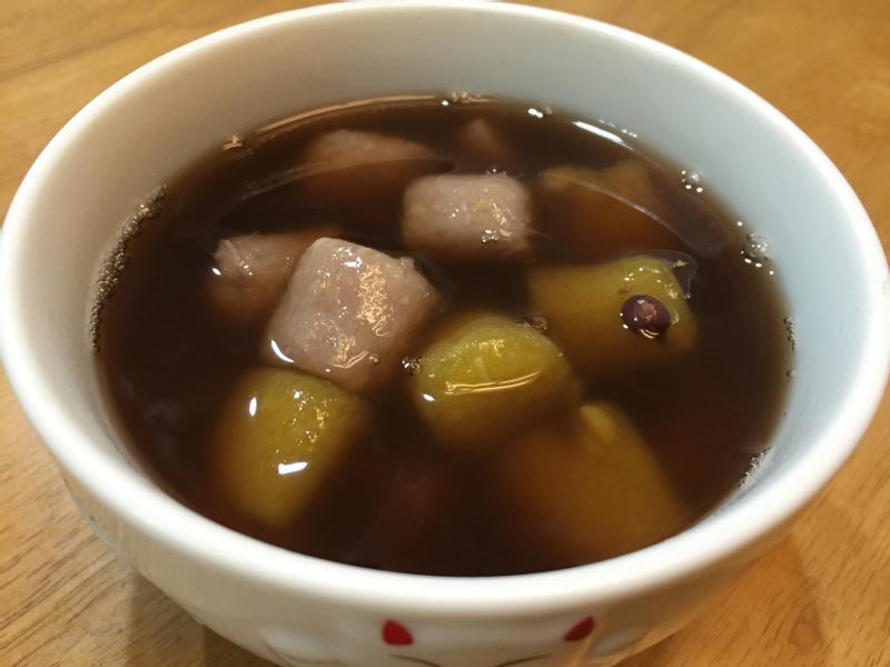 紅豆芋圓湯(附芋圓、地瓜圓作法)