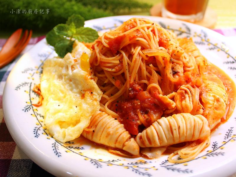 脆卷茄汁拌麵【百味來私房美味】