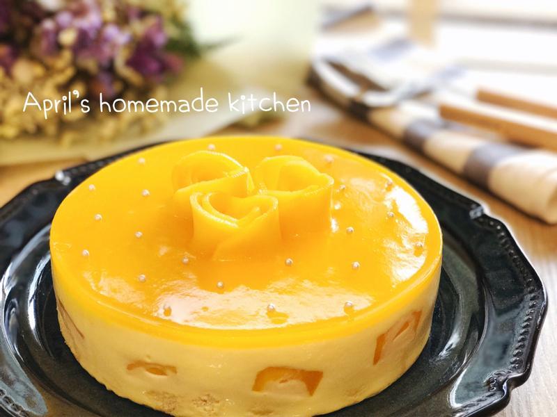 芒果優格生乳酪蛋糕 免烤箱