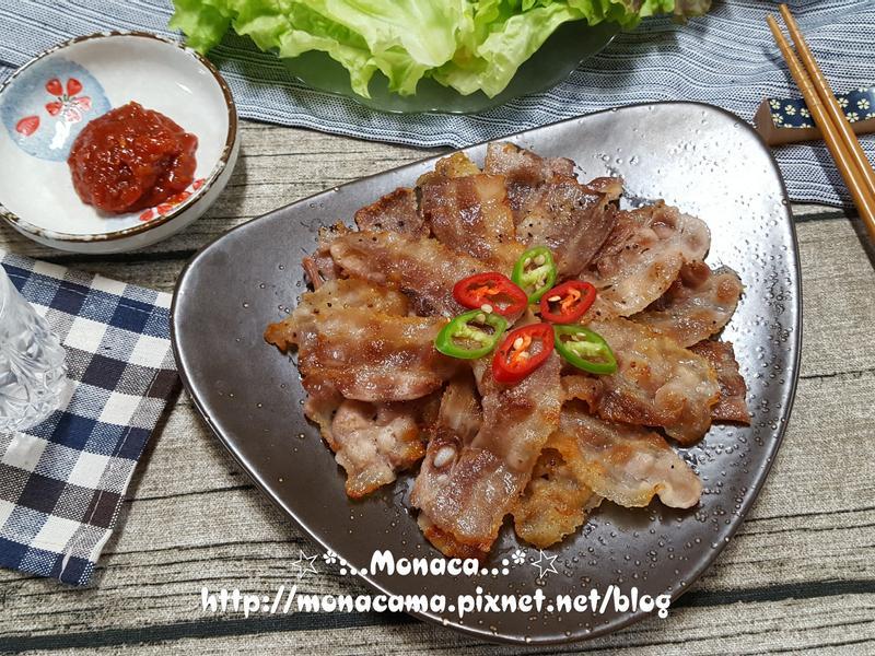 韓式肉片烤肉대패삼겹살