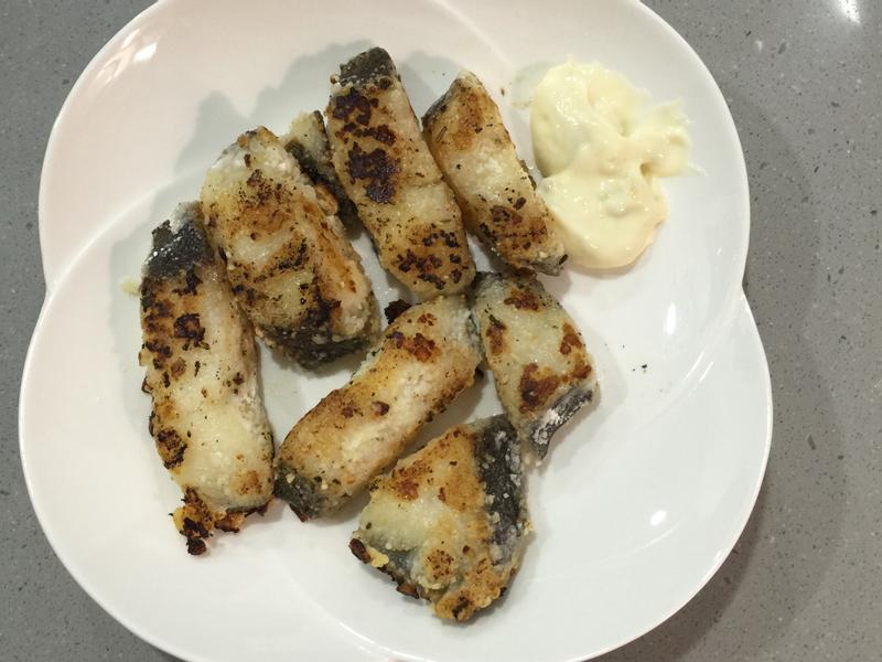 蒜香煎塔塔鱈魚塊