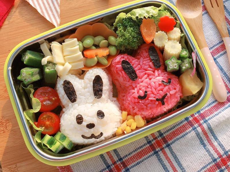 可愛咪咪兔子造型便當