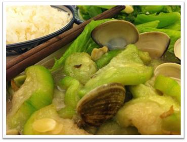 肥美蛤蜊絲瓜