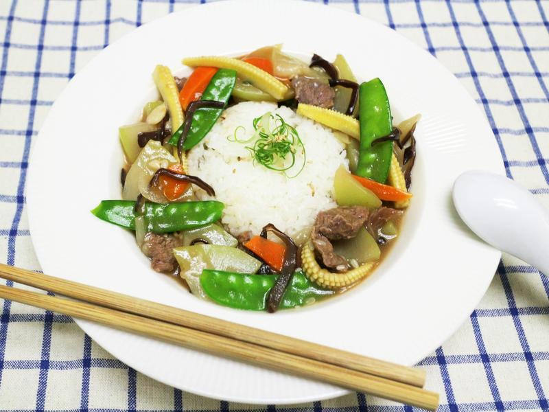 匏瓜牛肉什錦燴飯
