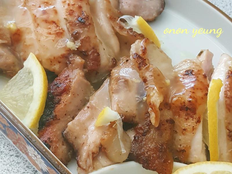 清香檸檬煎雞排 簡易。家常菜。晚餐