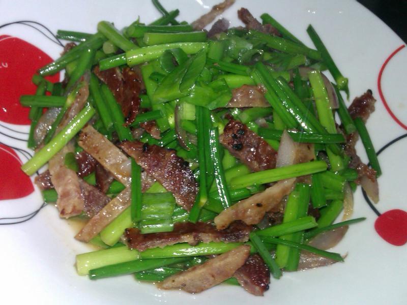 美珍香肉乾絲(雞肉乾&豬肉乾)炒韭菜花