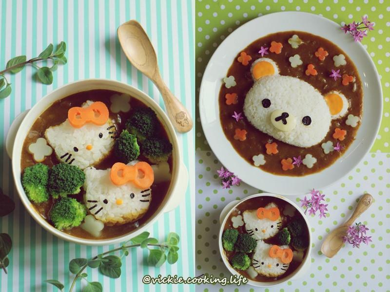 拉拉熊 hello kitty咖哩便當餐