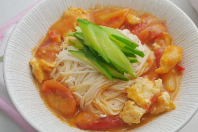 蕃茄蛋花冷湯麵
