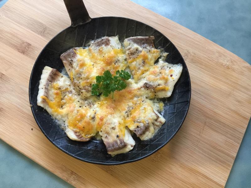 香蒜奶油焗烤鯛魚
