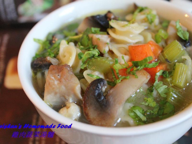 雞肉蔬菜湯麵Chicken Noodle Soup