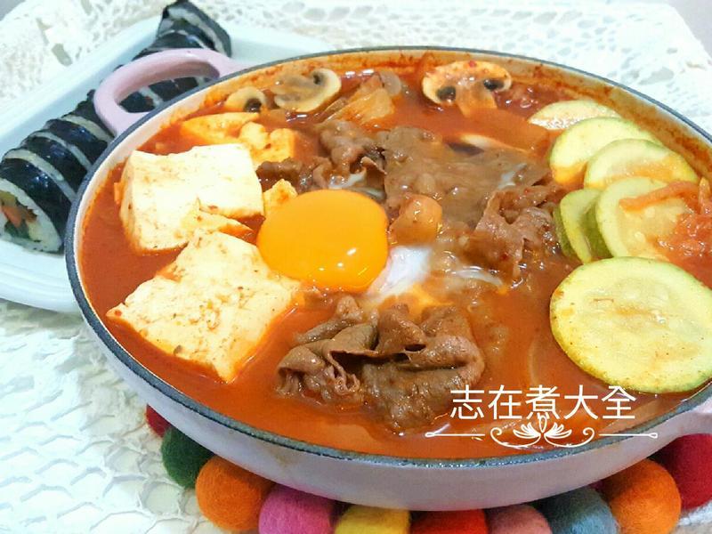 15分鐘韓式牛肉泡菜豆腐鍋-昆布鰹魚湯底