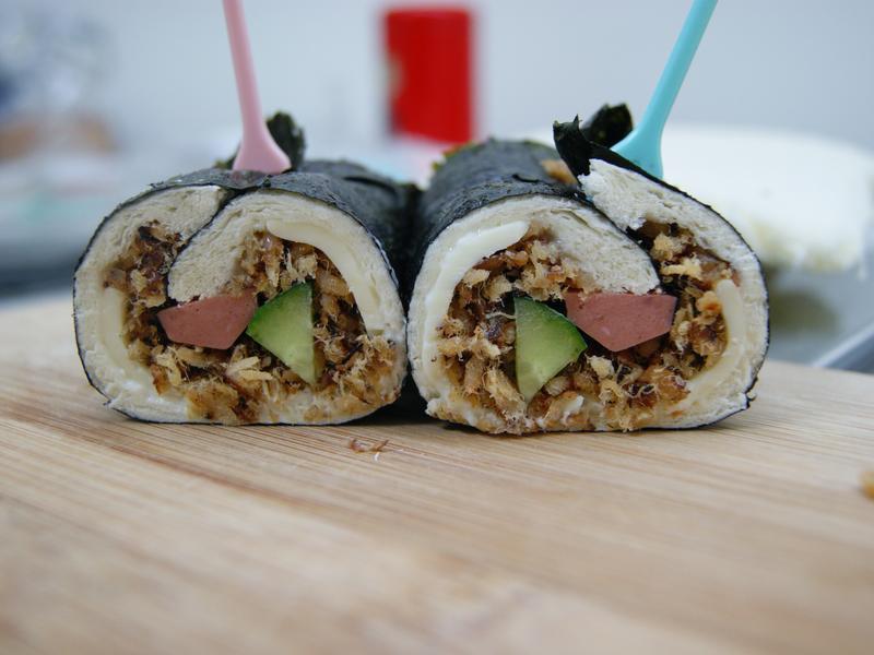 魚鬆吐司壽司