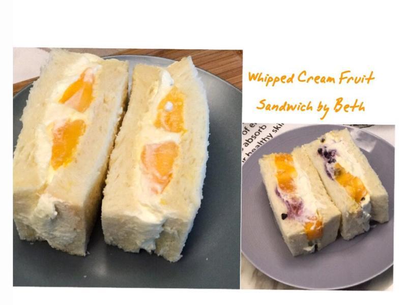鮮奶油水果三明治